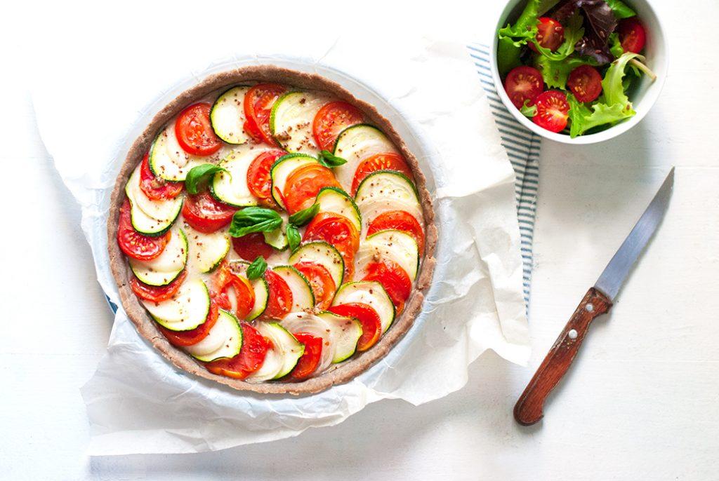 Tarte aux légumes sans gluten