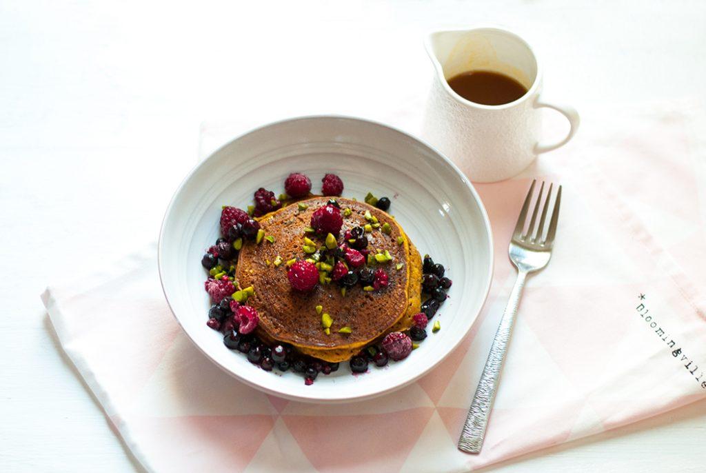 Pancakes potimarron châtaigne, gluten free