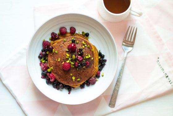 Leaf • 3 recettes à base de potimarron : Pancakes, Pumpkin Spice latte et petits moelleux sans gluten et vegan