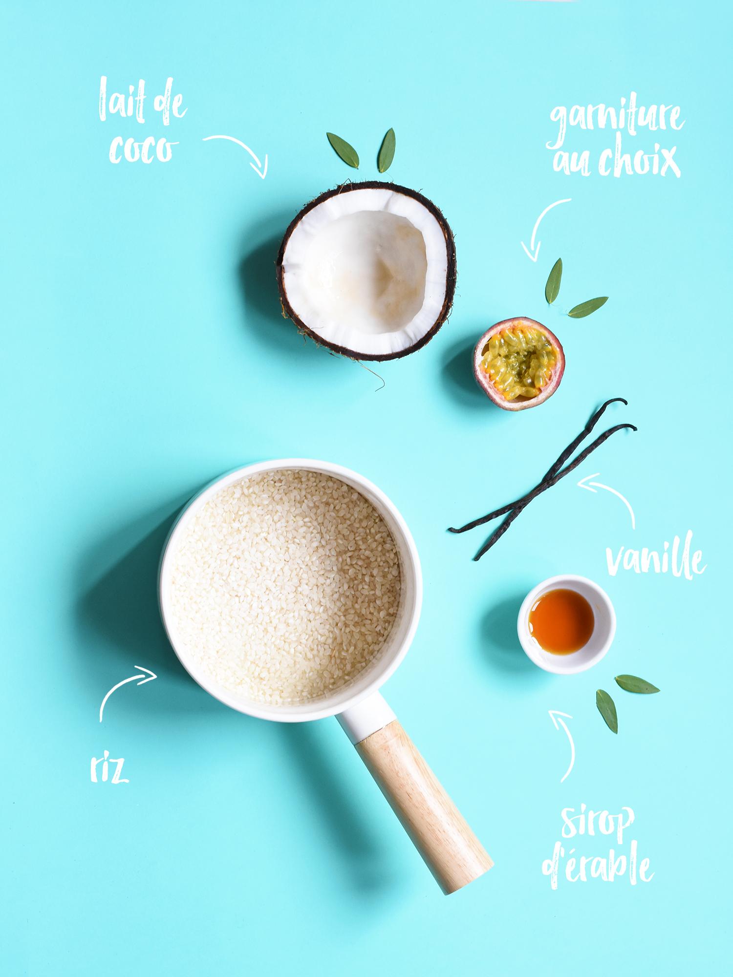 Riz au lait de coco et fruits frais #vegan #glutenfree