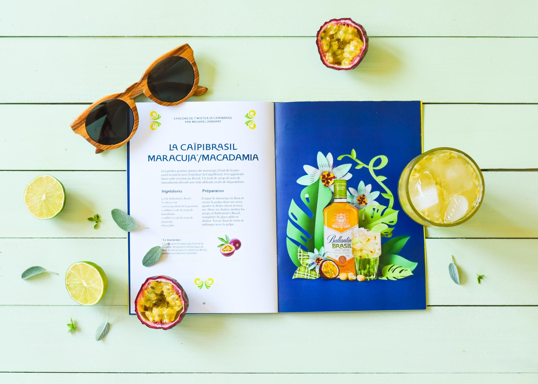 Leaf - Cocktail Ballantine's aux fruits de la passion, citron vert et noix de macadamia