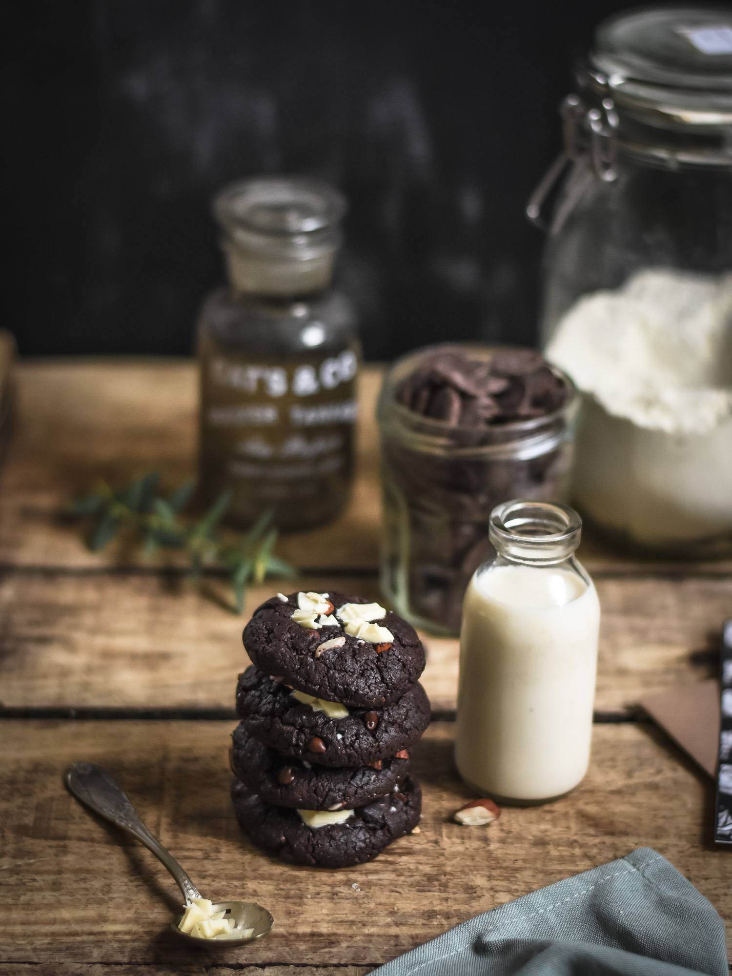 Leaf • Une recette de délicieux cookies vegan au chocolat.