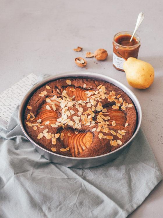 Moelleux doudou, chocolat, noisettes & poires (sans gluten)